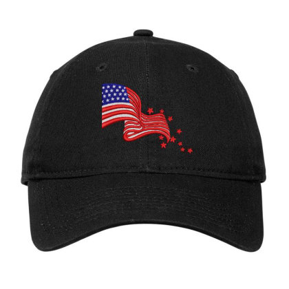 America Flag Embroidered Hat Adjustable Cap Designed By Madhatter