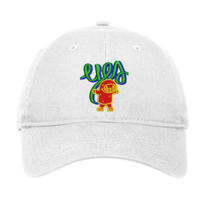 Yes Or Eyes Embroidered Hat Adjustable Cap Designed By Madhatter