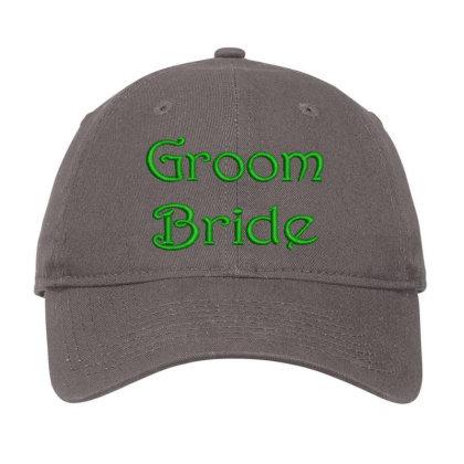 Groom Bride Embroidered Hat Adjustable Cap Designed By Madhatter