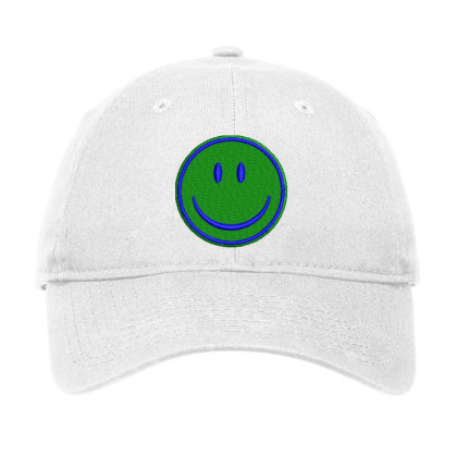Smiley Face Embroidered Hat Adjustable Cap Designed By Madhatter