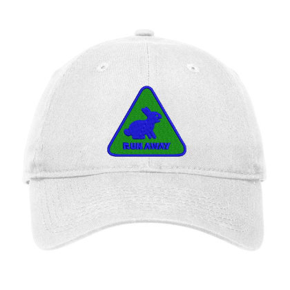 Run Away Embroidered Hat Adjustable Cap Designed By Madhatter