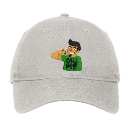 Call Me Embroidered Hat Adjustable Cap Designed By Madhatter