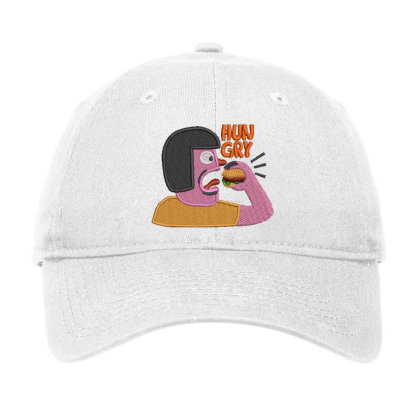 Hungry Embroidered Hat Adjustable Cap Designed By Madhatter