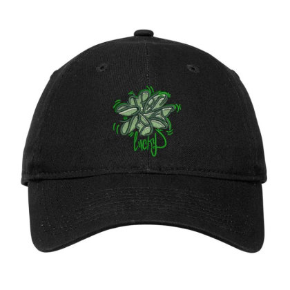 Lucky Embroidered Hat Adjustable Cap Designed By Madhatter