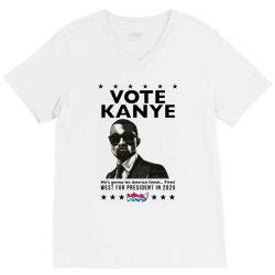 kanye graduates from hip hop to politics V-Neck Tee | Artistshot