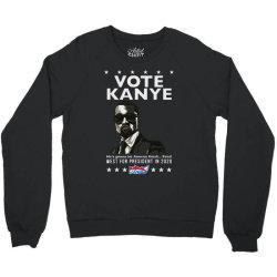 kanye graduates from hip hop to politics Crewneck Sweatshirt | Artistshot