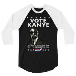 kanye graduates from hip hop to politics 3/4 Sleeve Shirt | Artistshot