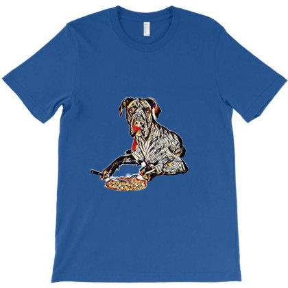 A Blue Great Dane Dog Laying T-shirt Designed By Kemnabi