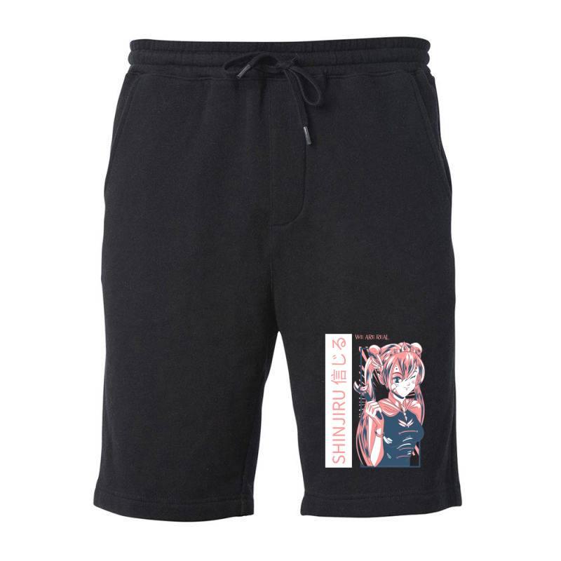 Anime Girl Fleece Short | Artistshot