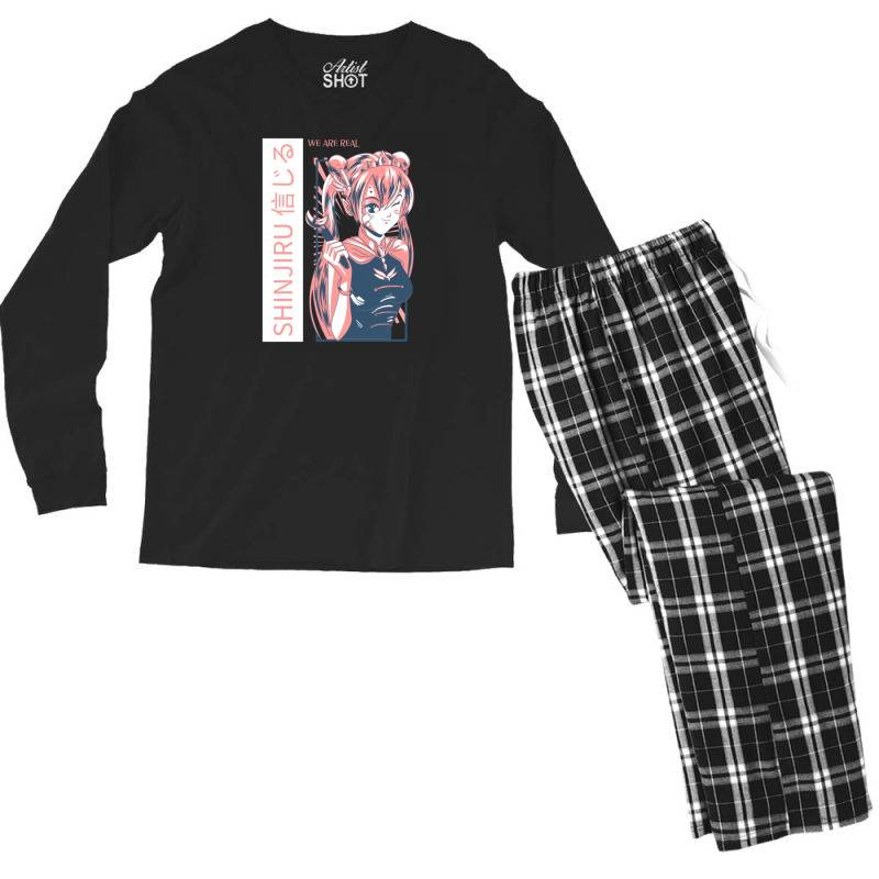 Anime Girl Men's Long Sleeve Pajama Set | Artistshot
