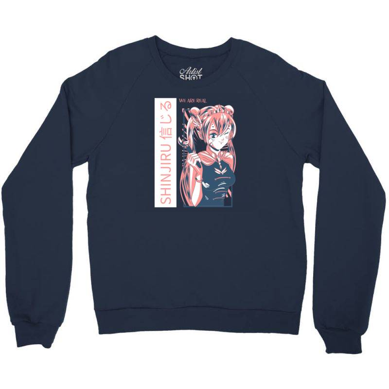 Anime Girl Crewneck Sweatshirt   Artistshot