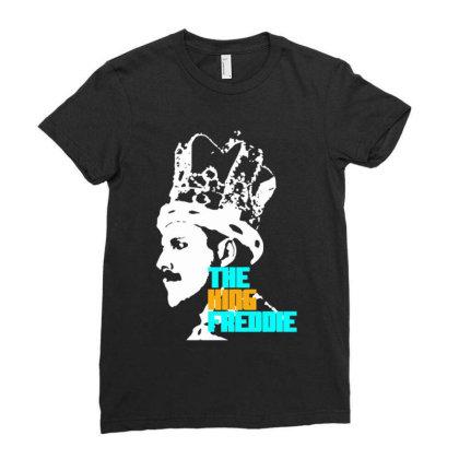 Freddie Mercury Ladies Fitted T-shirt Designed By Mrt90