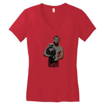 Jorge Masvidal Vector Women's V-neck T-shirt Designed By Jhanafi