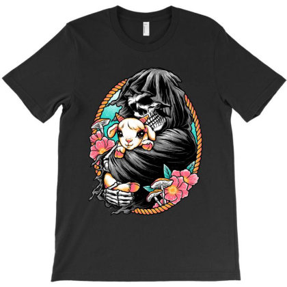 Death Embracing Life T-shirt Designed By Glitchygorilla