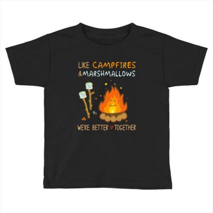 Like Campires And Marshmallow Toddler T-shirt Designed By Hoainv
