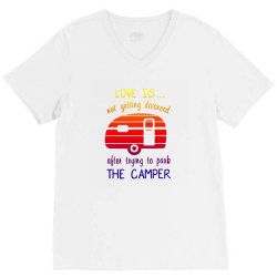 love is not getting divorced after trying to park the camper (2) V-Neck Tee | Artistshot