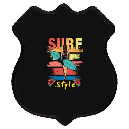 Surf Style Shield Patch Designed By Badaudesign