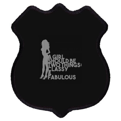 A Girl Should Be... Inspirational Fashion Shield Patch Designed By Word Power