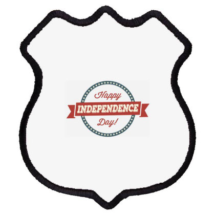 Happy Independence Day Shield Patch Designed By Estore