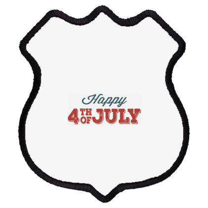 Happy 4th Of July Shield Patch Designed By Estore