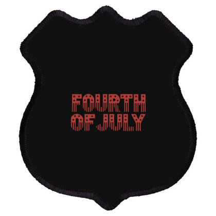 Fourth Of July Shield Patch Designed By Estore