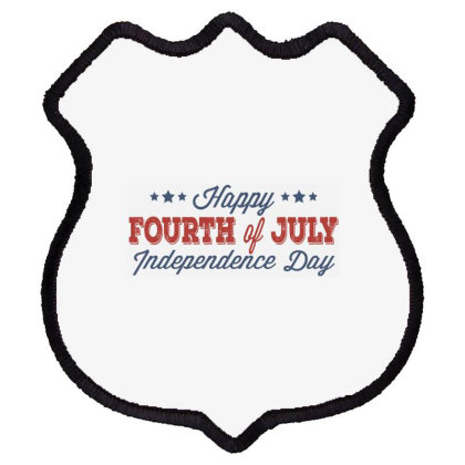 Happy 4th Of July Independence Day Shield Patch Designed By Estore