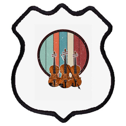 Violin Vintage Shield Patch Designed By Bettercallsaul
