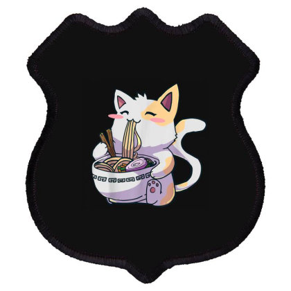 Ramen Cat Kawaii Anime Shield Patch Designed By Kakashop