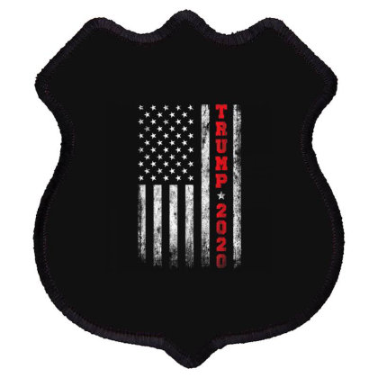 Trump 2020 American Flag Vintage Shield Patch Designed By Kakashop