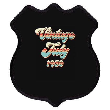 Vintage July 1950 Shield Patch Designed By Badaudesign