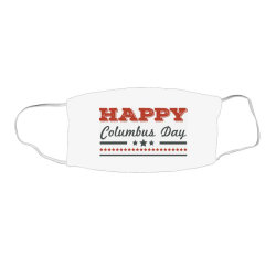 Happy Columbus Day Face Mask Rectangle Designed By Estore