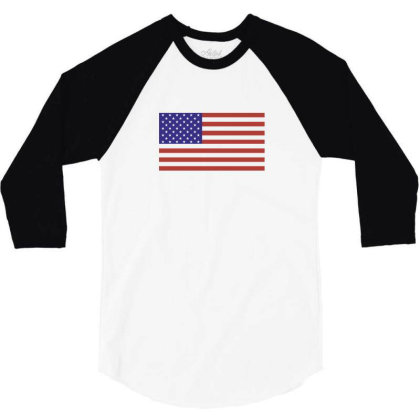 American Flag 3/4 Sleeve Shirt Designed By Estore