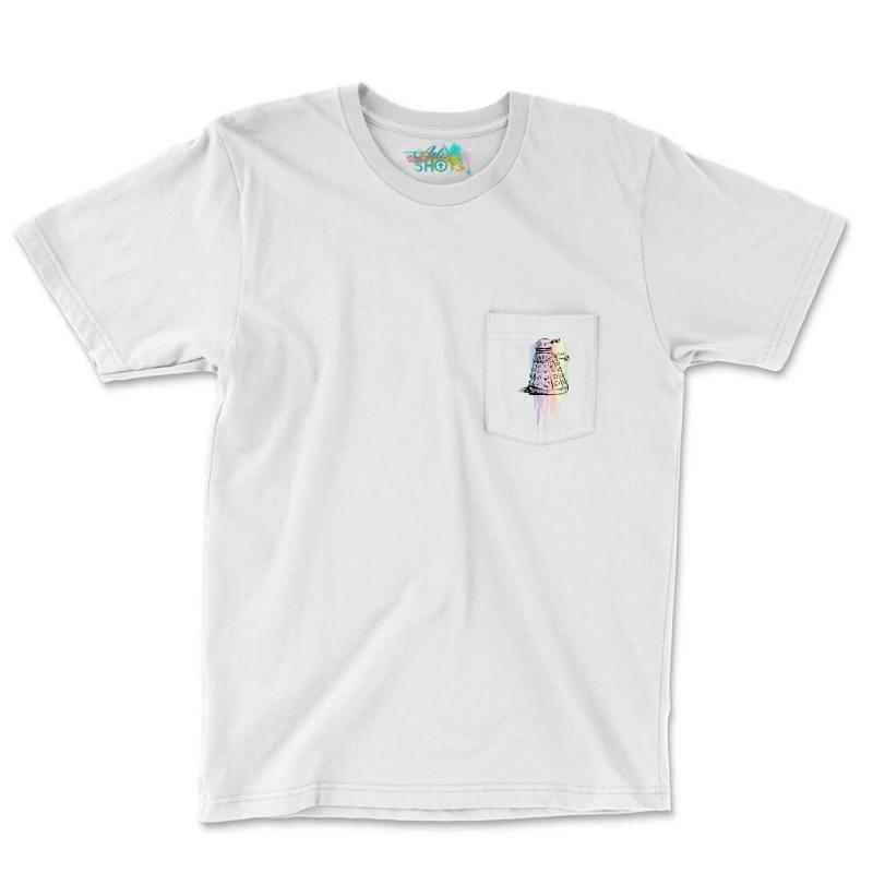 Color Dalek Pocket T-shirt | Artistshot