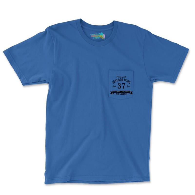 Aged 37 Years Pocket T-shirt   Artistshot