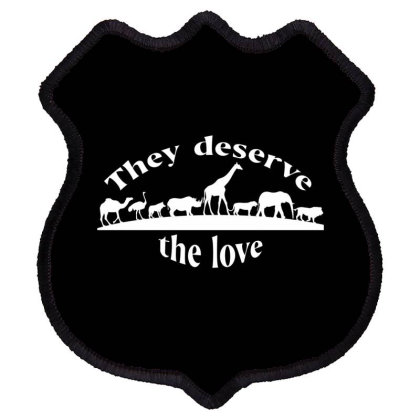Deserve Love Shield Patch Designed By Chiks