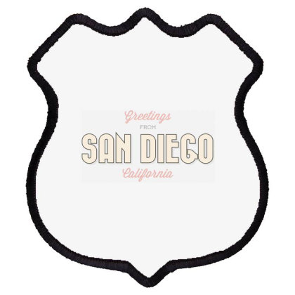 San Diego, California Shield Patch Designed By Estore