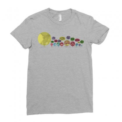 Planetary Chatter Vectorized Ladies Fitted T-shirt Designed By Fandysr88