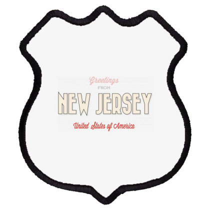 New Jersey, United States Of America Shield Patch Designed By Estore