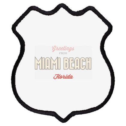 Miami Beach, Florida Shield Patch Designed By Estore