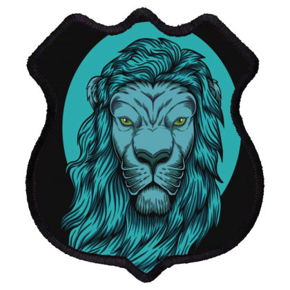 Beautiful Lion The King Of The Jungle Shield Patch Designed By Chris299