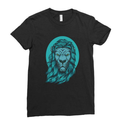 Beautiful Lion The King Of The Jungle Ladies Fitted T-shirt Designed By Chris299
