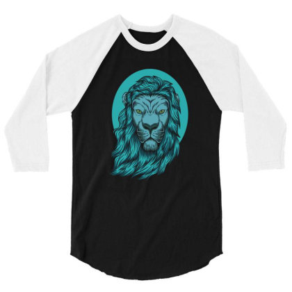 Beautiful Lion The King Of The Jungle 3/4 Sleeve Shirt Designed By Chris299