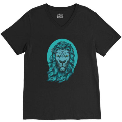 Beautiful Lion The King Of The Jungle V-neck Tee Designed By Chris299