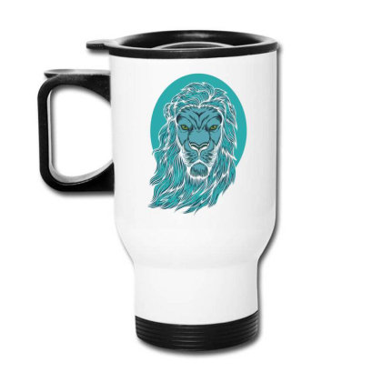 Beautiful Lion The King Of The Jungle Travel Mug Designed By Chris299