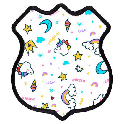Unicorn Shield Patch Designed By Disgus_thing