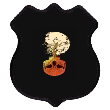 Skull Bowl For Tree With Full Moon Shield Patch Designed By Chris299
