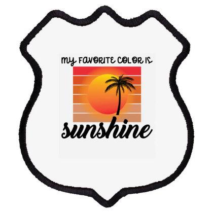 My Favorite Color Is Sunshine Shield Patch Designed By Ashlıcar