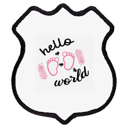 Hello World Baby Shield Patch Designed By Ashlıcar