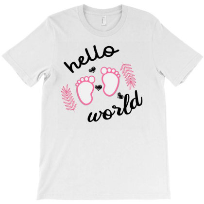 Hello World Baby T-shirt Designed By Ashlıcar