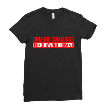 Dominic Cummings - The Lockdown Tour Ladies Fitted T-shirt Designed By Zanki860907